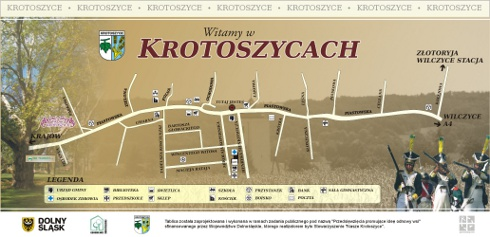 Zapraszamy do Krotoszyc - mapa miejscowości