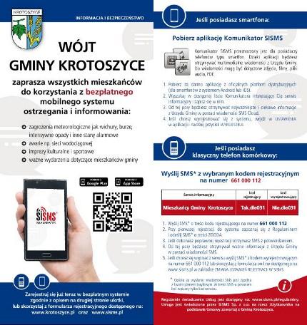 SISMS.pl bezpłatny mobilny system - ulotka