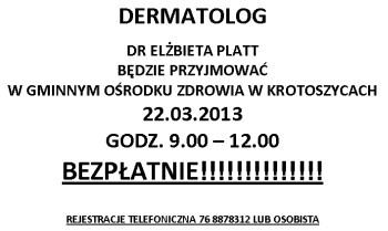 Ogłoszenie - Dermatolog