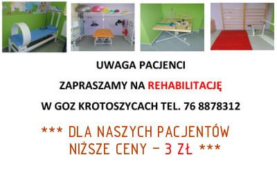 Rehabilitacja w GOZ Krotoszyce - Informacje